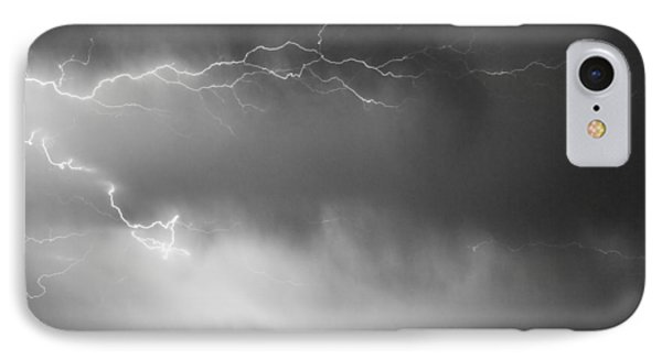 May Showers 2 In Bw - Lightning Thunderstorm 5-10-2011 Boulder C Phone Case by James BO  Insogna