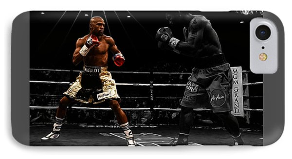 Mayweather And Pacquiao IPhone Case by Brian Reaves