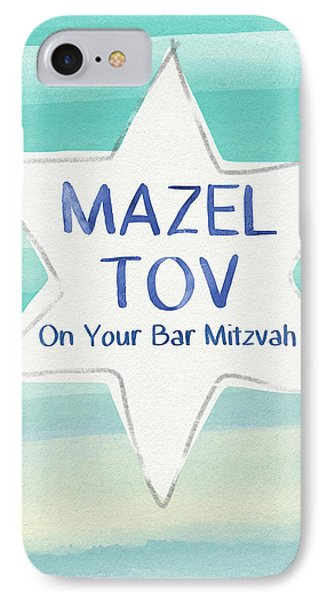 Mazel Tov On Your Bar Mitzvah-  Art By Linda Woods IPhone Case by Linda Woods