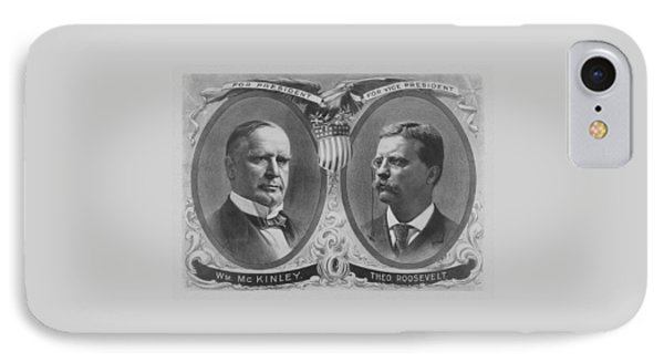 Mckinley And Roosevelt Election Poster IPhone Case by War Is Hell Store