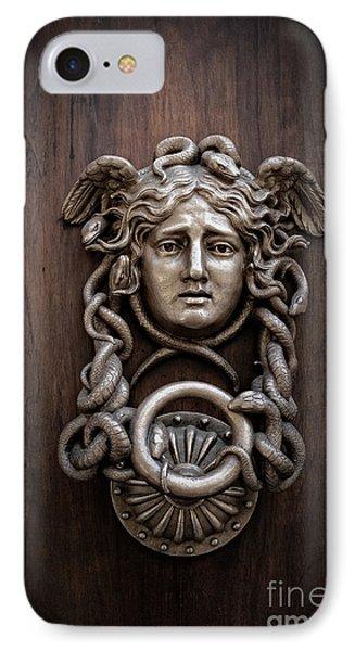 Medusa Head Door Knocker IPhone Case by Edward Fielding