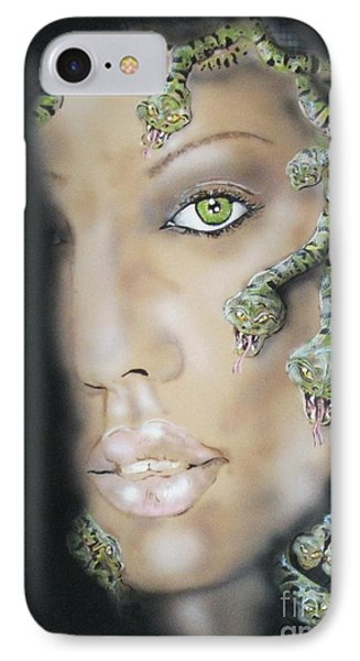 Medusa IPhone 7 Case by John Sodja