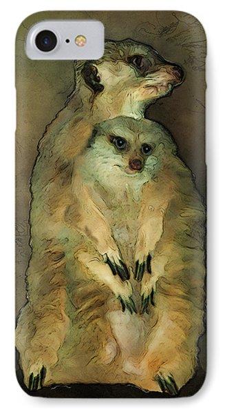 Meerkats IPhone Case by Jack Zulli