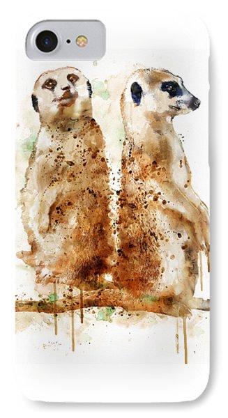 Meerkats IPhone Case by Marian Voicu