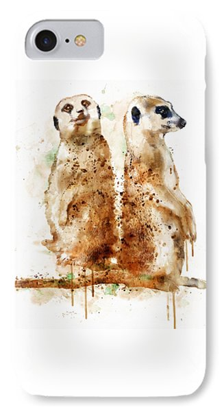Meerkats IPhone 7 Case by Marian Voicu