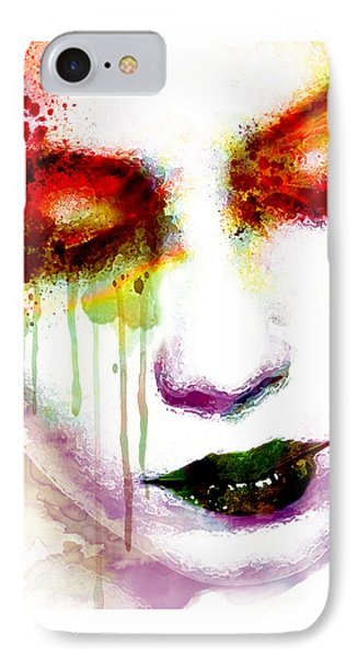 Melancholy In Watercolor IPhone Case by Marian Voicu