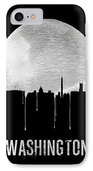 Memphis Skyline Black IPhone Case by Naxart Studio