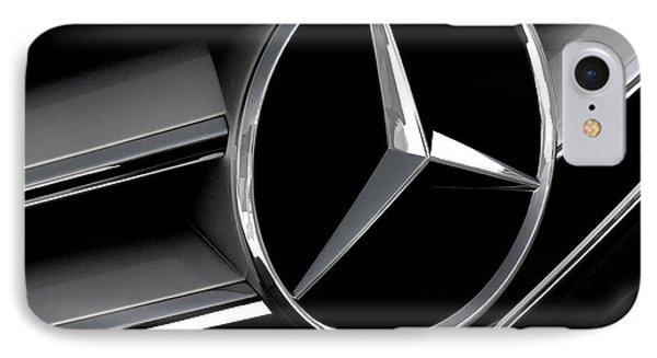 Mercedes Badge IPhone Case by Douglas Pittman