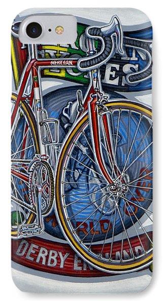 Mercian Flam Red Road Bicycle IPhone Case by Mark Howard Jones