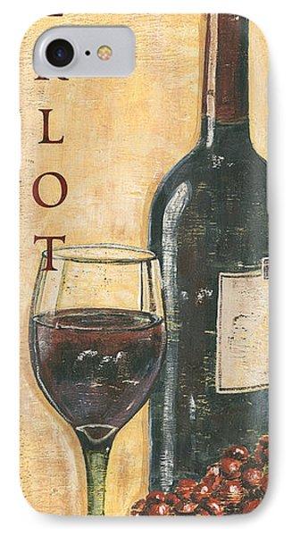 Merlot Wine And Grapes IPhone Case by Debbie DeWitt