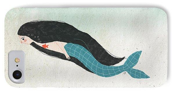 Mermaid IPhone 7 Case by Carolina Parada