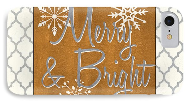 Merry And Bright IPhone Case by Debbie DeWitt