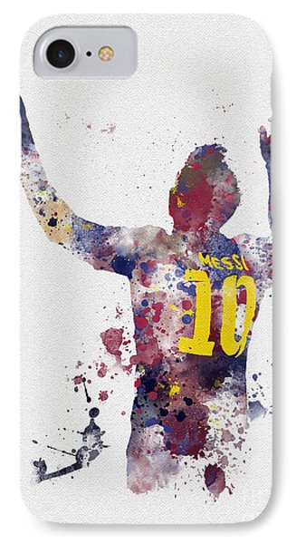 Messi IPhone 7 Case by Rebecca Jenkins
