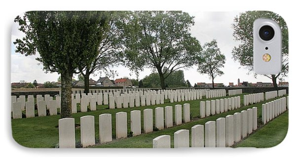 IPhone Case featuring the photograph Messines Ridge British Cemetery by Travel Pics