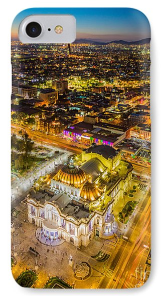 Mexico City Twilight IPhone Case by Inge Johnsson