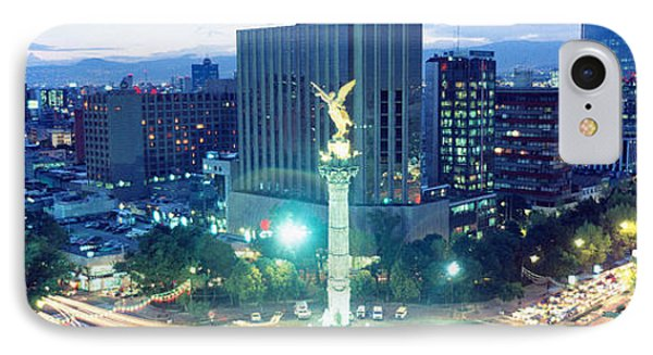 Mexico, Mexico City, El Angel Monument IPhone Case by Panoramic Images