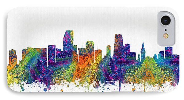 Miami Florida Skyline Color03 IPhone Case by Aged Pixel