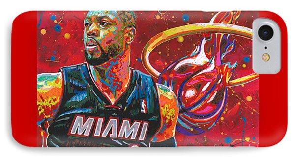 Miami Heat Legend IPhone Case by Maria Arango