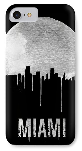 Miami Skyline Black IPhone Case by Naxart Studio