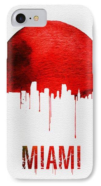 Miami Skyline Red IPhone 7 Case by Naxart Studio