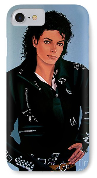 Michael Jackson Bad IPhone 7 Case by Paul Meijering