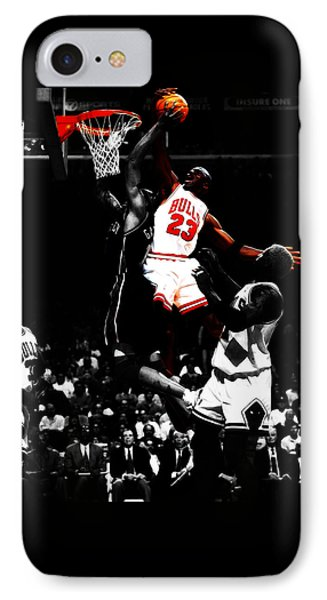 Michael Jordan Gimme Dat IPhone Case by Brian Reaves