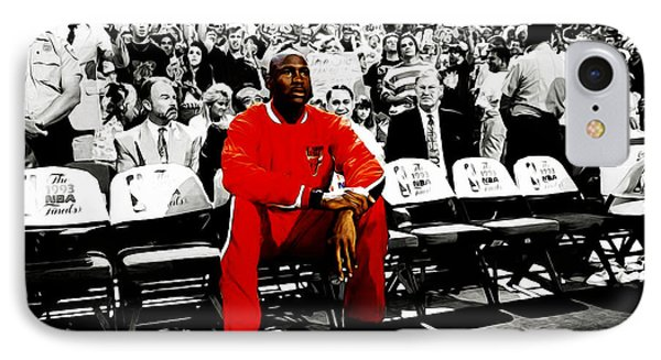 Michael Jordan Ready To Go IPhone Case by Brian Reaves