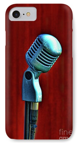 Microphone IPhone Case by Jill Battaglia