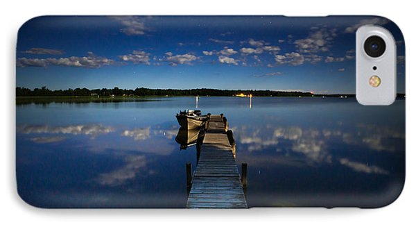 Midnight At Shady Shore On Moose Lake Minnesota IPhone Case by Alex Blondeau