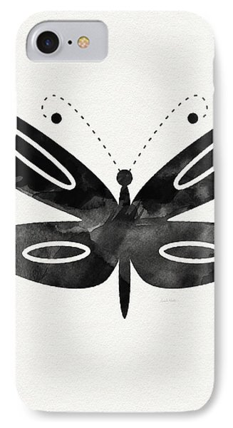 Midnight Butterfly 1- Art By Linda Woods IPhone 7 Case by Linda Woods