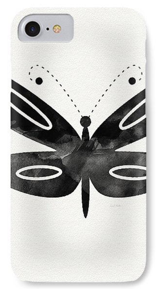 Midnight Butterfly 1- Art By Linda Woods IPhone Case by Linda Woods