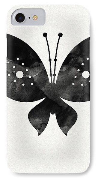 Midnight Butterfly 2- Art By Linda Woods IPhone 7 Case by Linda Woods