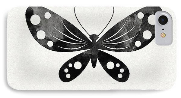Midnight Butterfly 3- Art By Linda Woods IPhone Case by Linda Woods