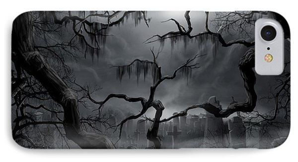Midnight In The Graveyard II IPhone Case by James Christopher Hill
