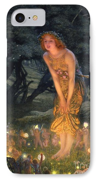 Midsummer Eve IPhone Case by Edward Robert Hughes