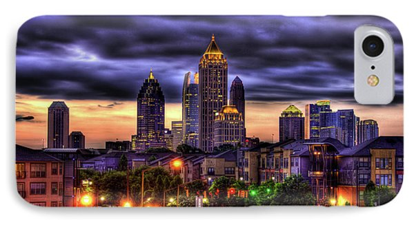 Midtown Atlanta Towers Over Atlantic Commons Phone Case by Reid Callaway