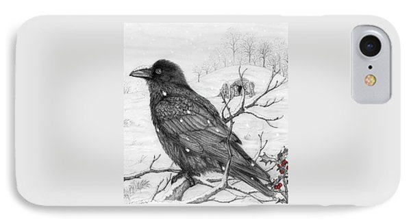 Midwinter Raven IPhone Case by Philip Harvey