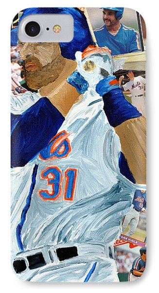 Mike Piazza Phone Case by Michael Lee