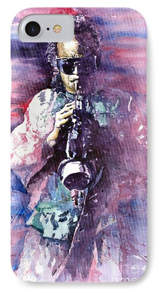 Miles Davis Meditation 2 Phone Case by Yuriy  Shevchuk