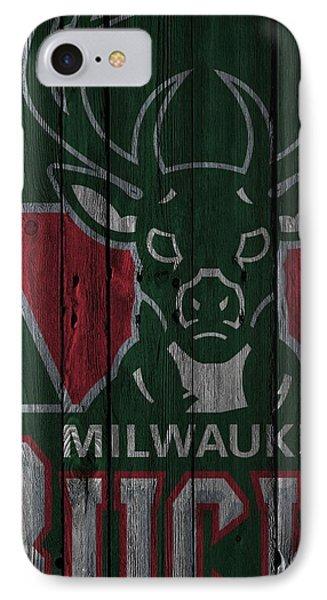 Milwaukee Bucks Wood Fence IPhone Case by Joe Hamilton