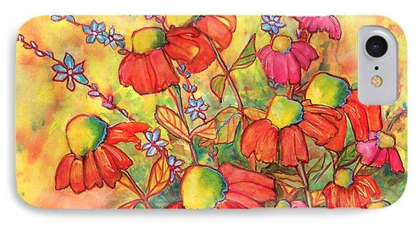 Mimosa Sky Flowers Phone Case by Blenda Studio