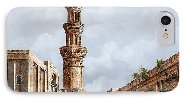 Minareto E Mercato IPhone Case by Guido Borelli