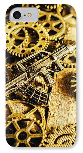 Miniature Qbz-95 Automatic Rifle IPhone Case by Jorgo Photography - Wall Art Gallery