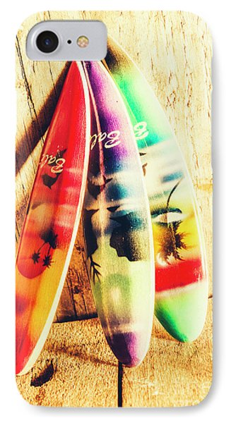 Miniature Surfboard Decorations IPhone Case by Jorgo Photography - Wall Art Gallery