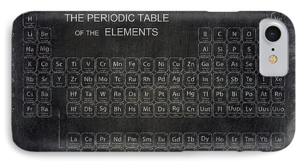 Minimalist Periodic Table IPhone 7 Case by Daniel Hagerman