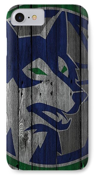 Minnesota Timberwolves Wood Fence IPhone Case by Joe Hamilton