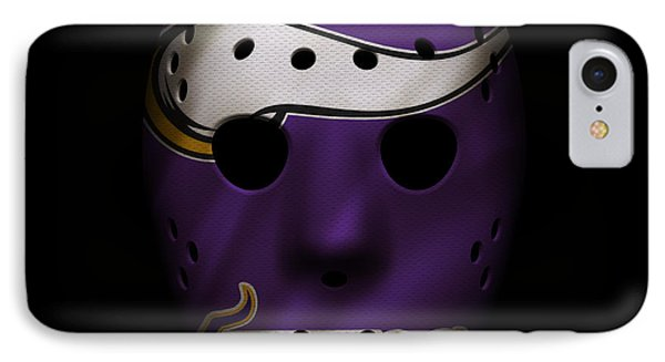 Minnesota Vikings War Mask IPhone Case by Joe Hamilton