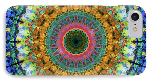 Miracle Mandala Art By Sharon Cummings IPhone Case by Sharon Cummings