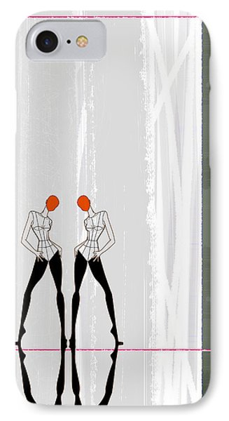 Mirror Reflections IPhone Case by Naxart Studio