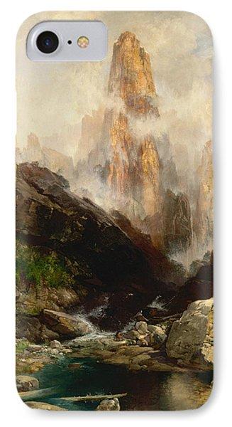 Mist In Kanab Canyon Utah IPhone Case by Thomas Moran